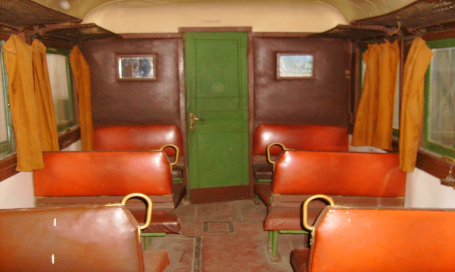 Interior of a 1st class wagon, modernized during Communist times. As the photo was taken in Ghioroc depot in 2009, this tram probably doesn't exist now. Photo: Marta Felfoldi