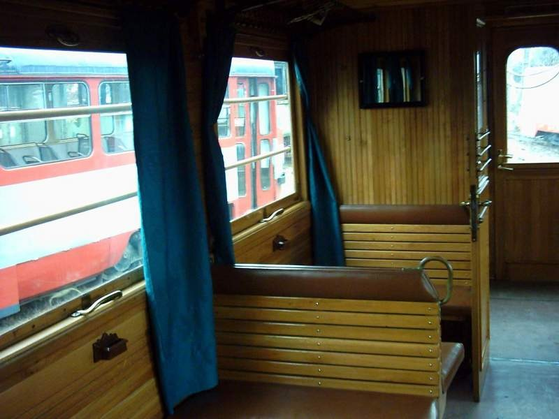 "Original interior design of the restored ""Green Arrow"" Photo: Silviu Sintea Source: tramclub.org"